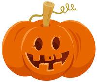 cartoon Halloween Jack-o'-lantern pumpkin