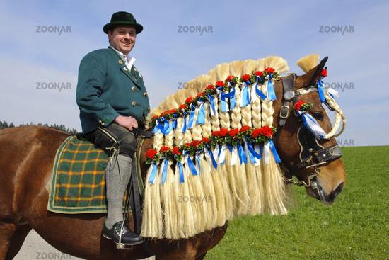 catholic horse procession in Bavaria