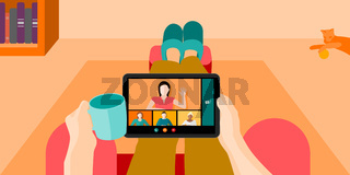 Work From Home Concept Vector