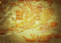 Map of The City. Navigation Tourist Guide, Route Urban Chart, Geographical Location. (Grunge Vintage Remake).