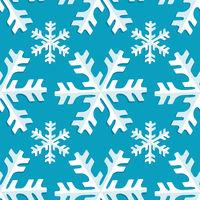 Seamless pattern snowflake