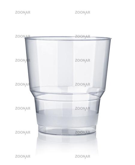 Empty disposable transparent plastic cup