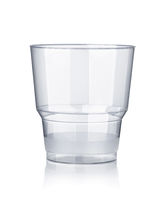 Empty disposable transparent plastic cup