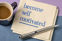 become self motivated inspirational note