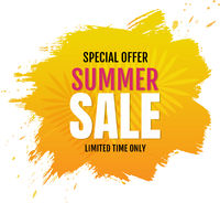 Sale Blob Banner With White Background