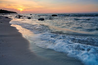 Ruegen Germany beach sunset