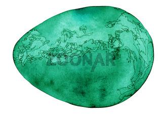 Green Cosmic Egg