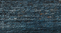Dark blue brick wall
