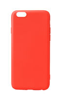 Back view of red silicone case for smartphone