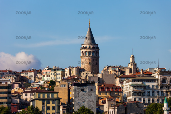 Istanbul City Skyline With Galata Tower
