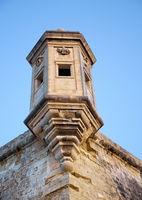 The Guard tower (the Gardjola) of the Singlea bastion. Malta.