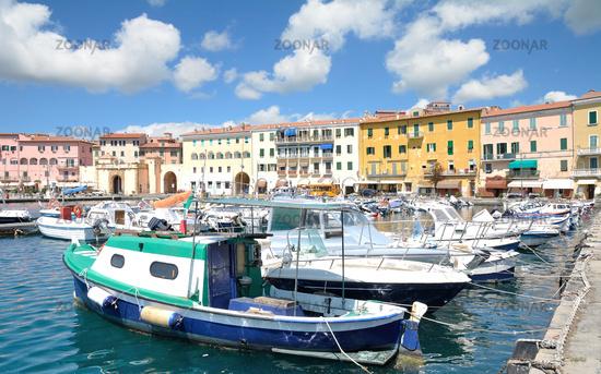 Harbor of Portoferraio,Island of Elba,Tuscany,mediterranean Sea,Italy
