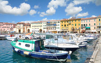 Harbor of Portoferraio,Island of Elba,Tuscany,mediterranean Sea,Italy