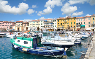 Hafen von Portoferraio,Insel Elba,Toskana,Mittelmeer,Italien