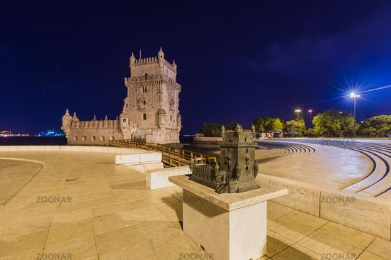 Belem Tower and miniature model - Lisbon Portugal
