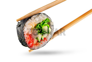 Roll spicy lollo-Ross with chopsticks