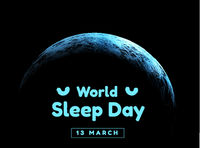 World sleep day. Event that takes place annually. The celebration of sleep and a call to action to study important questions about the effects of sleep on humans. Vector