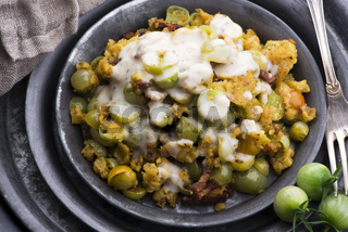 Dish made of fried green tomatoes