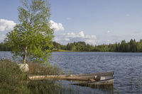 Relax at the small Norwegian forest lake