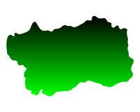Karte von Aostatal - Map of Aosta Valley
