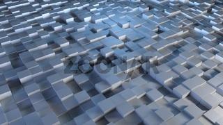 Illuminated cubes background