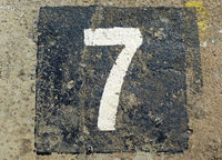7 - weathered number