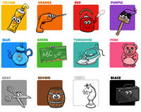 basic colors set with funny object characters