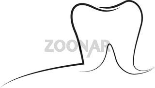Tooth outline logo