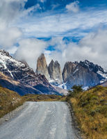 Gravel road in the Torres del Paine