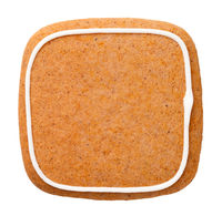 Gingerbread Cookie In Shape Of Square