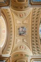 Interior of the roman catholic church St. Stephen's Basilica. Budapest