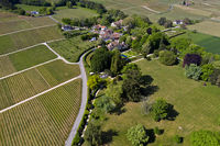Hamlet Vincy with vineyards and castle Vincy with park, Gilly, Vaud, Switzerland