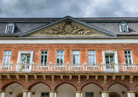 Facade of the Marstall building in Aurich, East Frisia, Lower Saxony, Germany