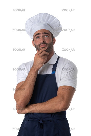 Male cook isolated on white
