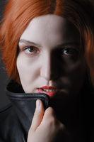 female serious portrait