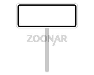 Ortsschild aus Tschechien auf weiss - Road sign of the Czech Republic on white