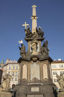 Trinity column, Prague, Bohemia, Czech Republic, Europe