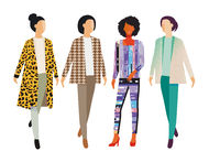 four Beauty fashion women illustration