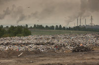 Large garbage dump outside of the city