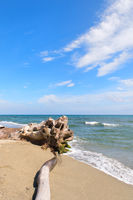 Corsican beach landscape