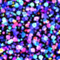 Glow bokeh background. Colorful seamless pattern with glitter particles