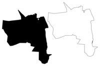 Bender City (Republic of Moldova, Transnistria or Transdniestria, Pridnestrovian Moldavian Republic) map vector illustration, scribble sketch City of Bendery or Tighina map