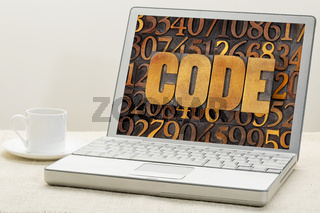 code word on a laptop