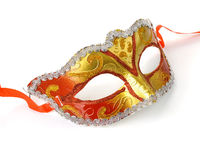 Gold and red carnival mask