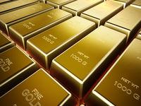 Stack of one kilogram gold bars. 3D illustration