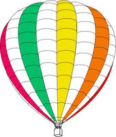 Air balloon on a white background. Vector illustration