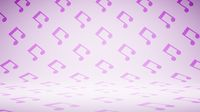 Empty Blank Musical Notes Shape Pattern Studio Background