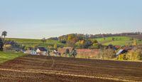 village at autumn time