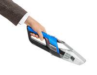 Cordless vacuum cleaner in hand