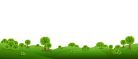 Green Landscape Isolated With White Background